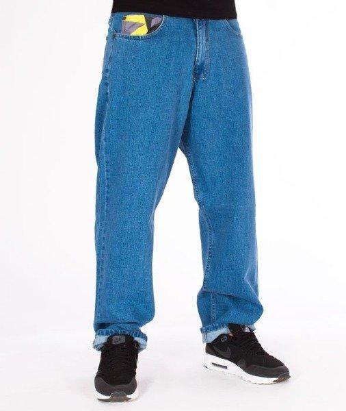 rozmiar 40 najlepsza strona internetowa Nowa kolekcja El Polako-Moro Triangle Spodnie Baggy Jeans Light Blue