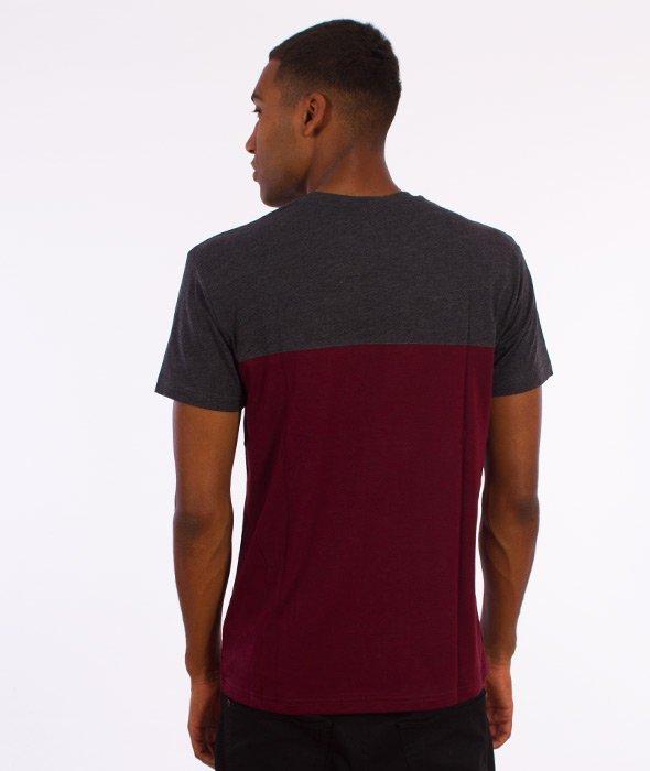 Iriedaily-Block Pocket T-Shirt Anthra Red