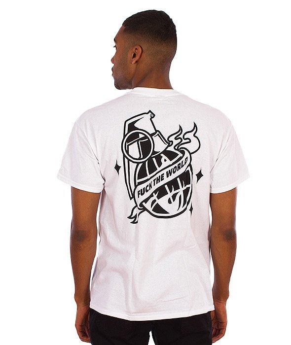 Trash-Fuck The World T-shirt Biały