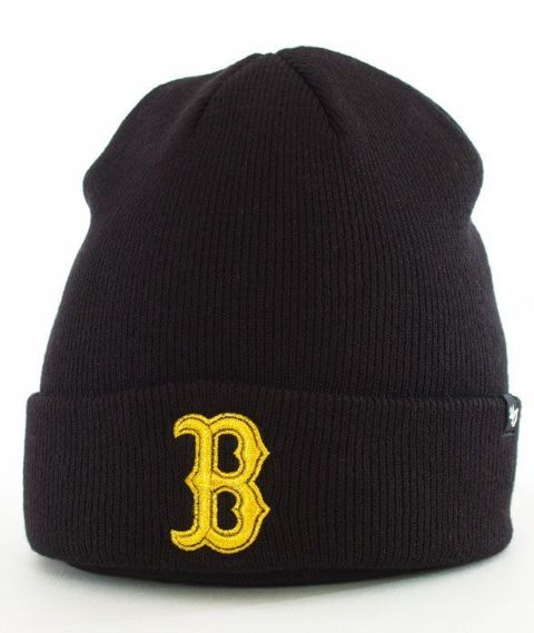 47 Brand-Boston Red Sox Metallic Czapka Zimowa Czarna