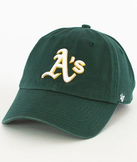 47 Brand-Clean Up Oakland Athletics Czapka z Daszkiem Zielona
