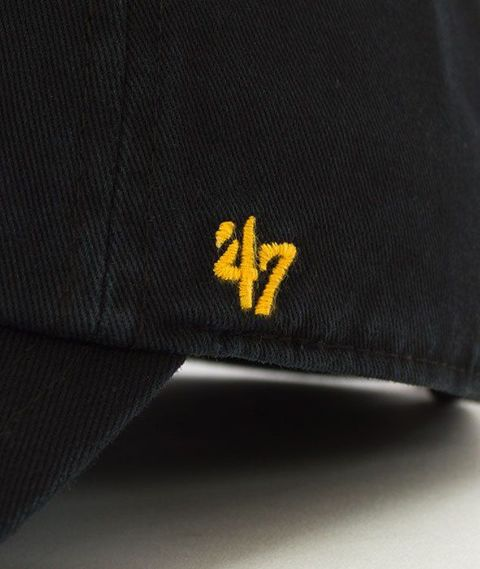47 Brand-Clean Up Pittsburgh Pirates Czapka z Daszkiem Czarna