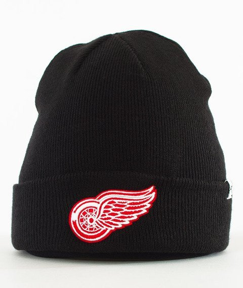 47 Brand-Detroit Red Wings Cuff Knit Czapka Zimowa Czarna