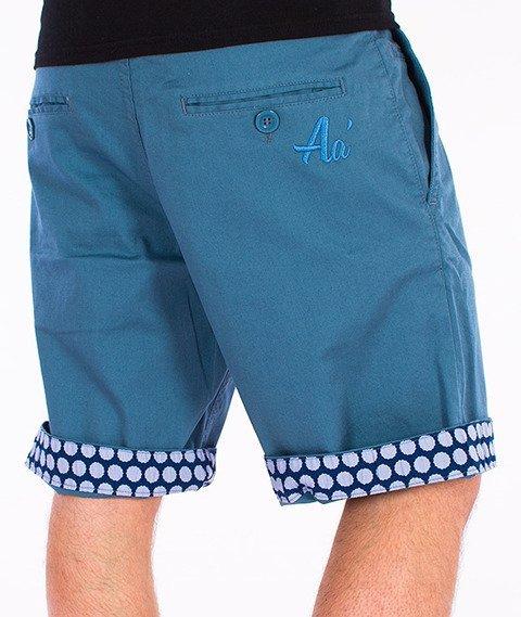 Alkopoligamia-Aa' Short Chinos Spodnie Krótkie Niebieskie