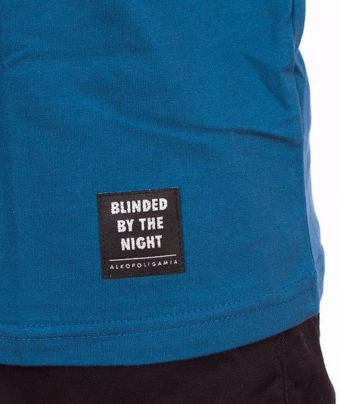 Alkopoligamia-Blinded Point T-shirt Turkusowy