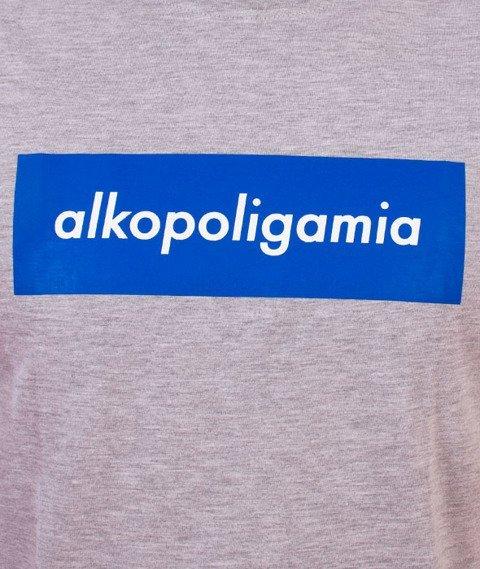 Alkopoligamia-Box T-Shirt Szary