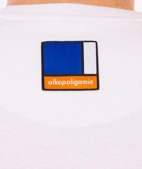 Alkopoligamia-Circle T-Shirt Biały