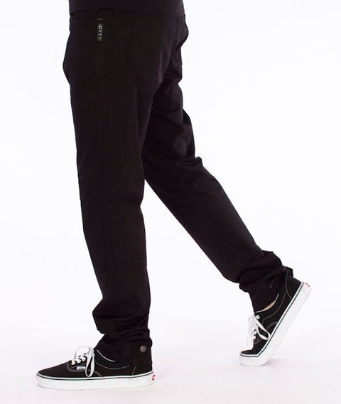 Alkopoligamia-ΔLKO' Spodnie Nap-Jogger Czarne