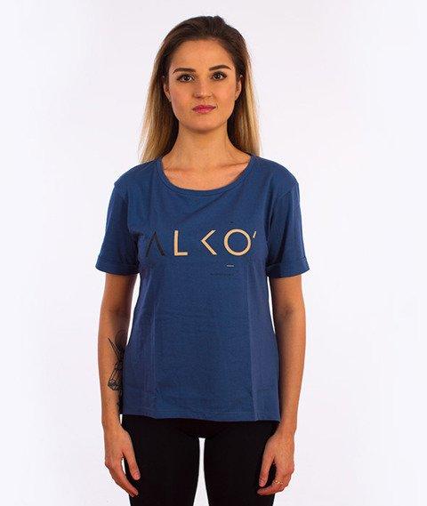 Alkopoligamia-ΔLKO' T-Shirt Damski Granatowy