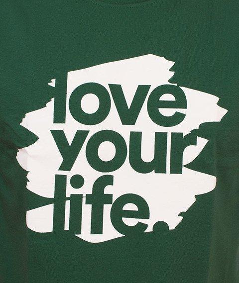 Alkopoligamia-Loveyourlife Blur T-Shirt Zielony