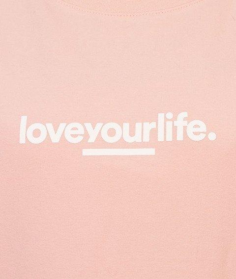 Alkopoligamia-Loveyourlife Loveyourleaf Bluza Damska Różowa