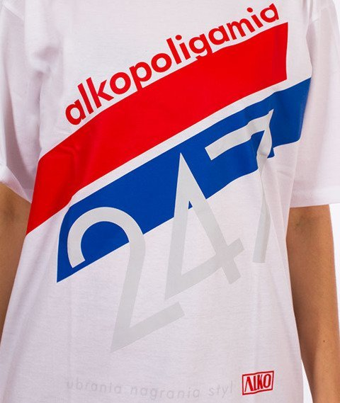 Alkopoligamia-Tapes Panasonic T-Shirt Biały