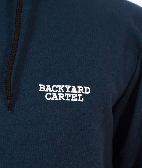 Backyard Cartel-Back Label Hoody Bluza Kaptur Niebieska