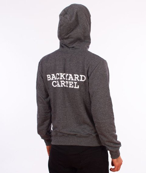 Backyard Cartel-Back Label Hoody Bluza Kaptur Szara