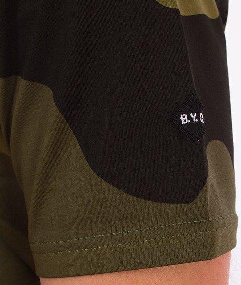Backyard Cartel-Big Woodland T-Shirt Zelone Camo