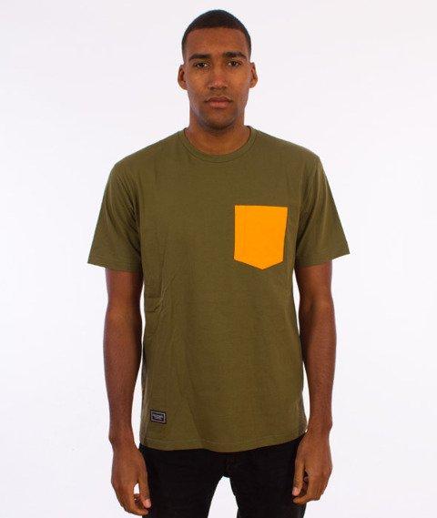 Backyard Cartel-Court T-Shirt Oliwkowy