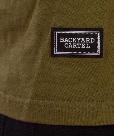 Backyard Cartel-Court T-Shirt Oliwkowy