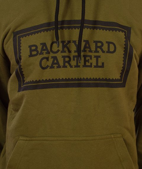 Backyard Cartel-Label Logo Hoody Bluza Kaptur Khaki