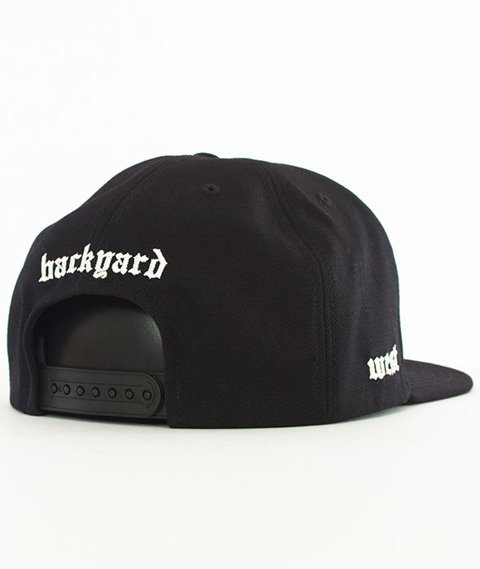Backyard Cartel-Old Wood Snapback Czapka Czarna