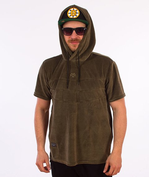 Backyard Cartel-Smooth Short Sleeve Hoody Bluza Kaptur Khaki
