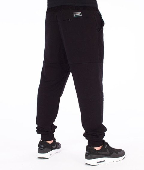 Backyard Cartel-Swish Sweatpants Spodnie Dresowe Czarne