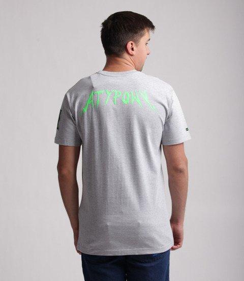 Biuro Ochrony Rapu-Atypowy T-shirt Szary