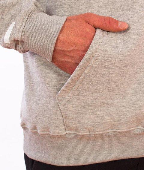 Biuro Ochrony Rapu-BOR New Outline Bluza Kangurka Kaptur Jasny Szary