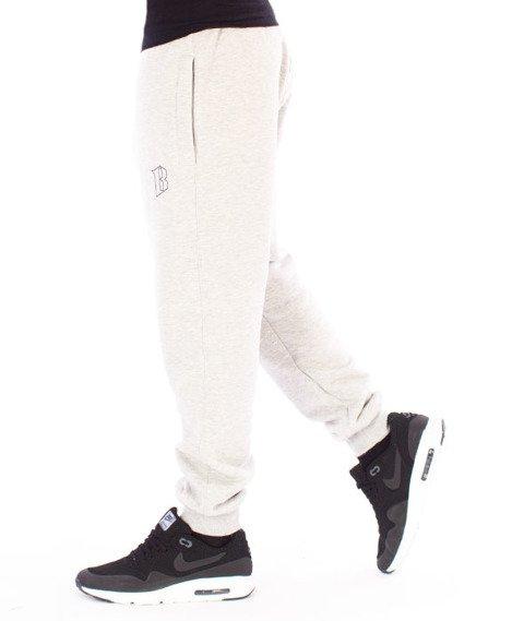 Biuro Ochrony Rapu-Classic Borcrew Outline Spodnie Dresowe Jasny Szary