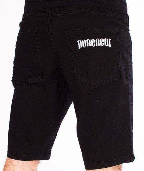 Biuro Ochrony Rapu-Classic Borcrew Szorty Jeans Krótkie Spodnie Czarny Jeans