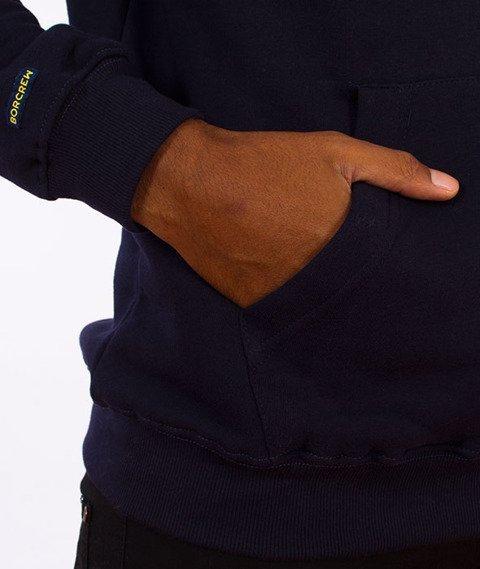 Biuro Ochrony Rapu-Glitch Bluza Kaptur Granat