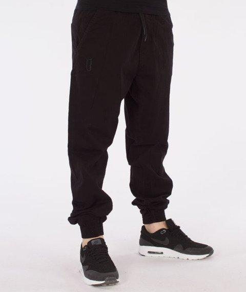 Biuro Ochrony Rapu-Jogger Fit Guma Strecz Spodnie Borcrew Czarny