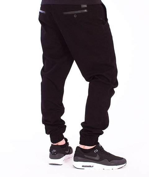 Biuro Ochrony Rapu-Jogger Spodnie Materiałowe Czarne