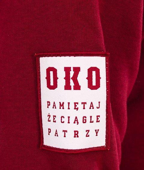 Biuro Ochrony Rapu-OKO New Bluza Kangurka Kaptur Bordo