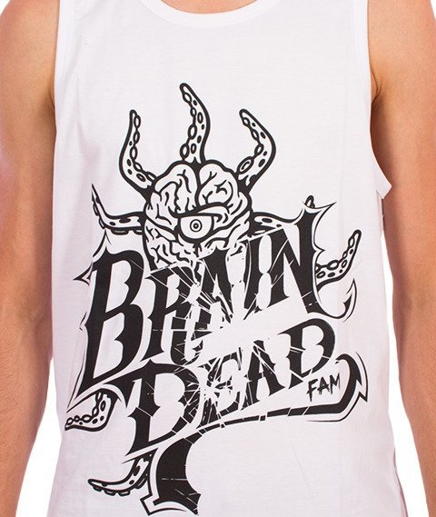 Brain Dead Familia-Occult Baseball Tank Top Biały