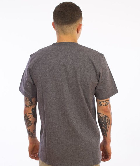 Carhartt-Chase T-Shirt Dark Grey Heather/Gold