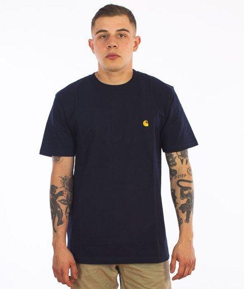 Carhartt-Chase T-Shirt Navy/Gold