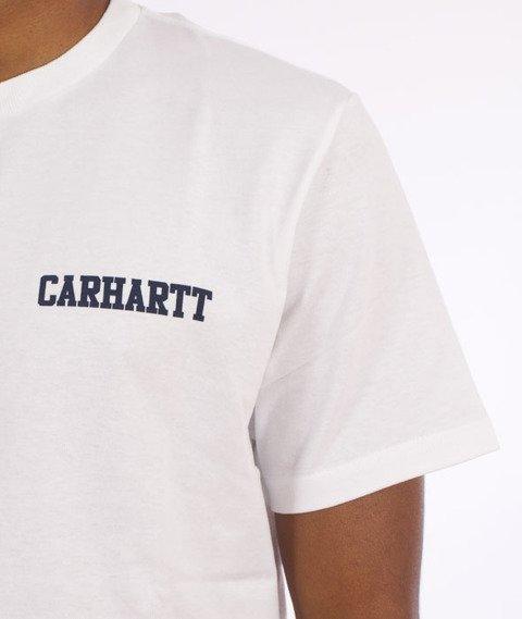 Carhartt-College Script LT  T-Shirt White/Navy