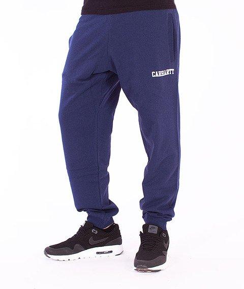 Carhartt-College Sweat Pants Blue/White