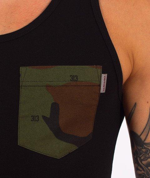 Carhartt-Lester Pocket Tank Top Black Camo 313