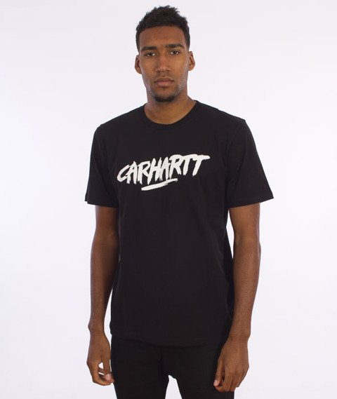 Carhartt-Painted Script T-Shirt Black/White