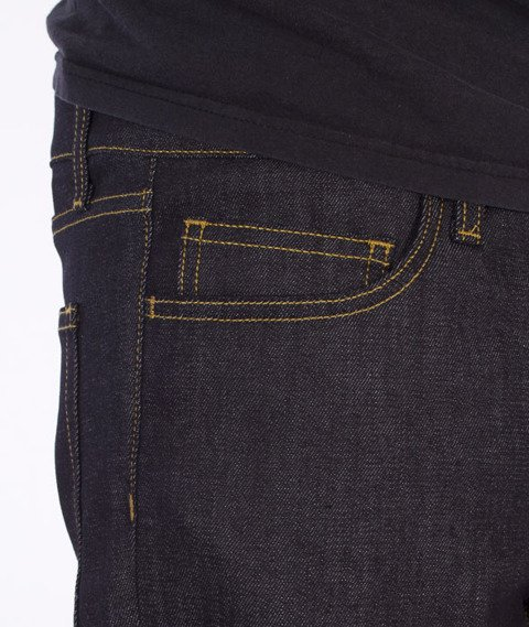 Carhartt-Rebel Pant Spodnie Spicer Blue Stretch Denim Rigid