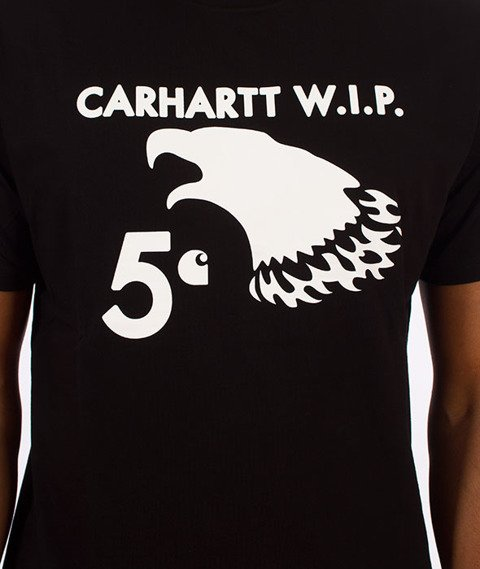 Carhartt WIP-5 Cent Eagle T-Shirt Black/White