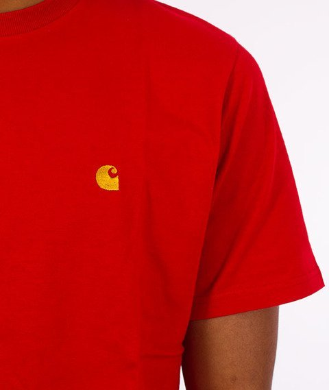 Carhartt WIP-Chase T-Shirt Chili/Gold