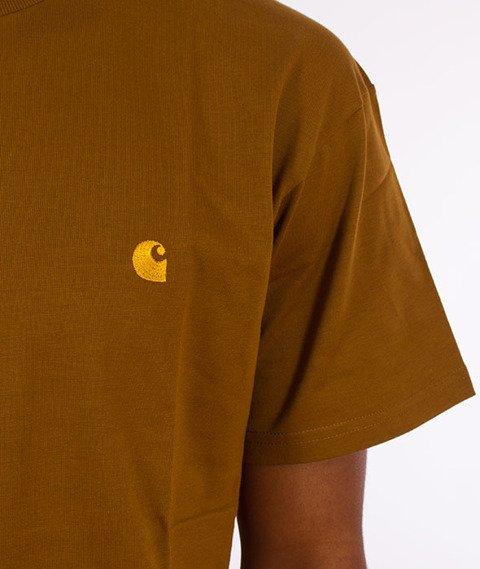 Carhartt WIP-Chase T-Shirt Hamilton Brown/Gold