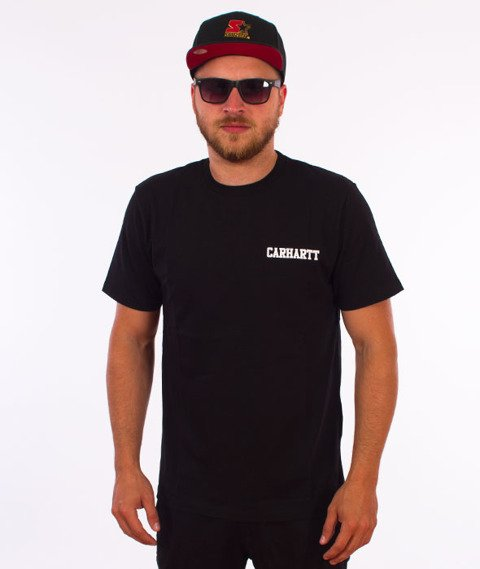 Carhartt WIP-College Script T-Shirt Black/White