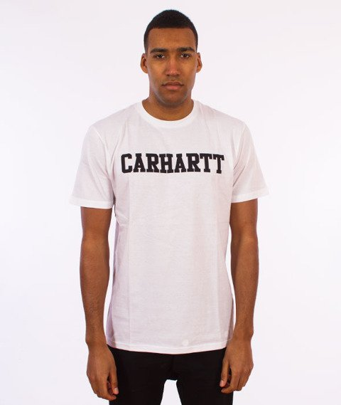 Carhartt WIP-College T-Shirt White/Black