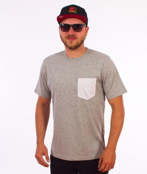 Carhartt WIP-Contrast Pocket T-Shirt Grey Heather/Ash Grey Heather