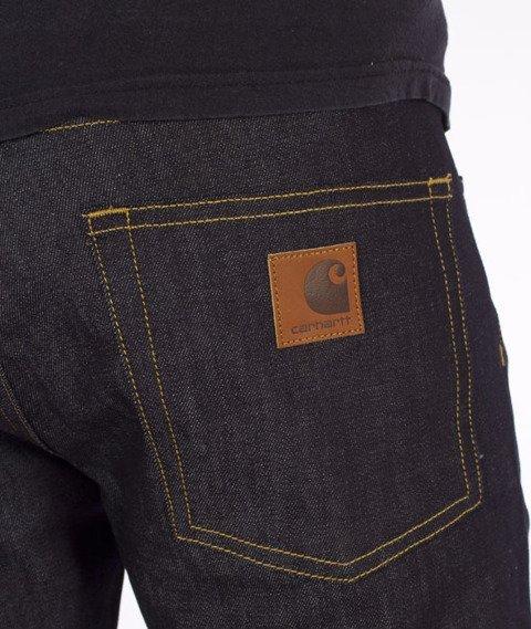 Carhartt WIP-Rebel Pant Spodnie Spicer Blue Stretch Denim Rigid