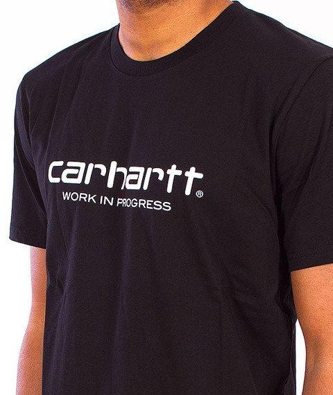 Carhartt-Wip Script T-Shirt  Black/White