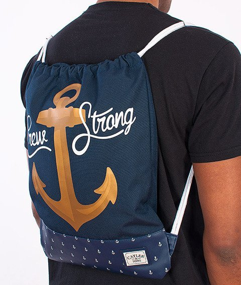 Cayler & Sons-Crew Gym Bag Navy/Gold/White